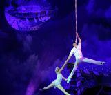 воздушные гимнасты Дмитрий Григоров и Екатерина Рубцова (Украина)